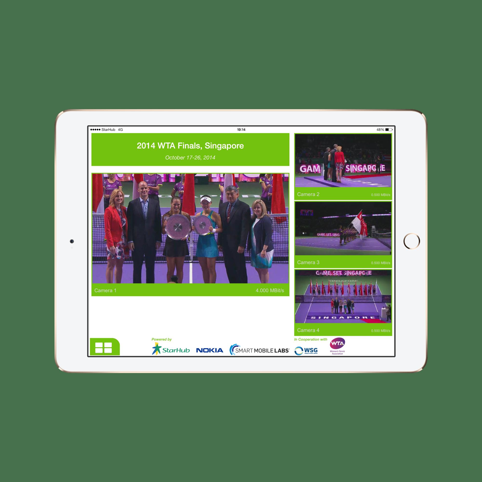 Evo App Beispiel: WTA Finals Singapore